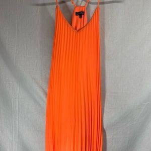 Vici Neon Lights Ruffle Gold Trim Dress